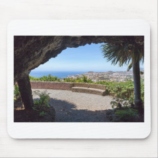 Cave outlook on sea and village on Madeira Mouse Pad