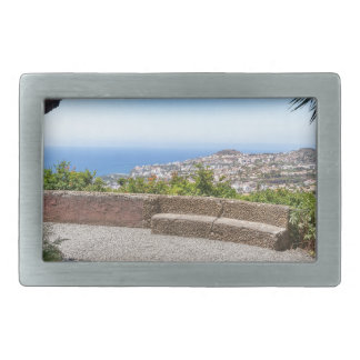Cave outlook on sea and village on Madeira Rectangular Belt Buckle