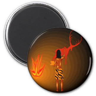Cave Painter 2 Inch Round Magnet