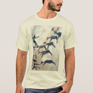 Cave Painting Archers and Deer T-Shirt