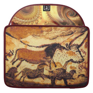 Cave Painting & Fractals Design Sleeve For MacBook Pro