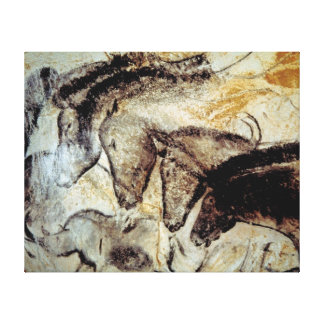 Cave Painting of Horses on Canvas