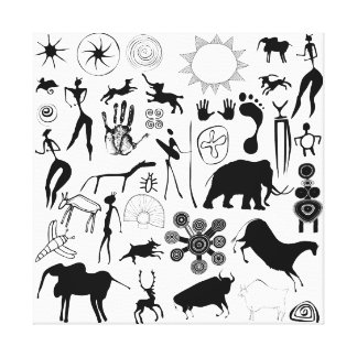 cave paintings canvas print