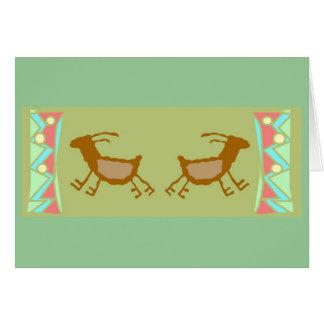 Cave PAintings Deers Greeting Card