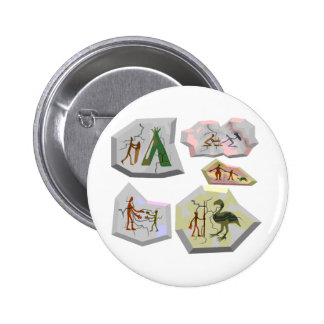 cave paintings pinback button