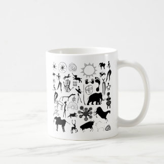 cave paintings - primitive art coffee mug