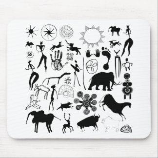 cave paintings - primitive art mouse pad
