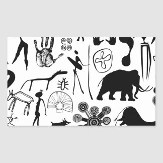cave paintings - primitive art rectangular sticker
