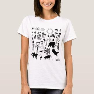 cave paintings - primitive art T-Shirt