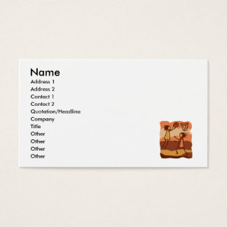 Cave People Playing Basketball Business Card