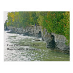 """""""cave Point County Park """"/ Beautiful Door County Postcard at Zazzle"""