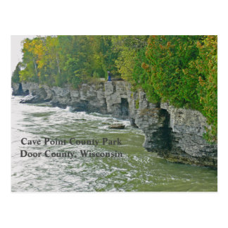 """CAVE POINT COUNTY PARK ""/ BEAUTIFUL DOOR COUNTY POSTCARD"