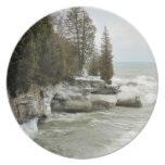 plate, decor, home, lake, michigan, cave, point,