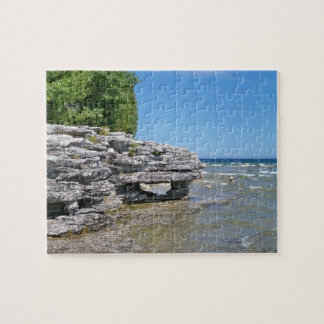 Cave Point Park Shoreline Jigsaw Puzzle