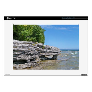 Cave Point Park Shoreline Laptop Decals