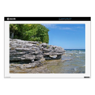 Cave Point Park Shoreline Laptop Skins