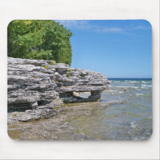 Cave Point Park Shoreline Mouse Pad