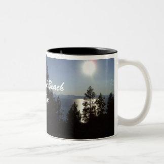 Cave Rock Beach Coffe Cup/Mug Lake Tahoe Two-Tone Coffee Mug