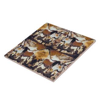 Cave Scribbles Horses Trivet Tile