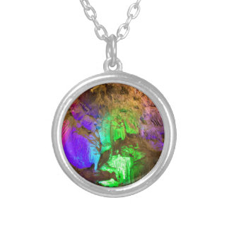 cave silver plated necklace