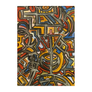 Cave Symbols-Abstract Art Hand Painted