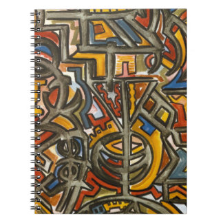 Cave Symbols-Modern Art Watercolor And Marker Notebook