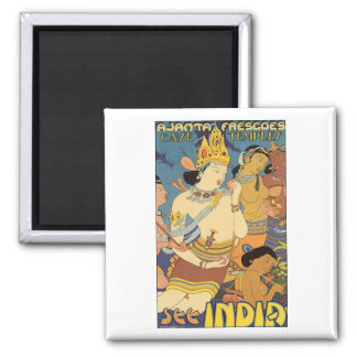 Cave Temples, See India Travel Poster Magnet