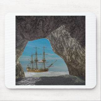 Cave View of Saling Ship Mouse Pad