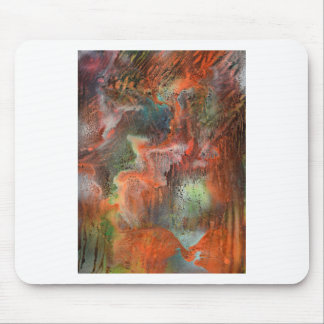 Cave wall with leaching minerals mouse pad