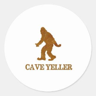 Cave Yeller (Sasquatch) Classic Round Sticker