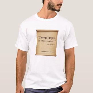 """Caveat Emptor"" MEMOIRS OF A GYM RAT t-shirt"
