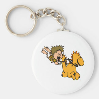 Caveboy & Pet Dragon Keychain
