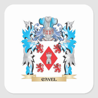 Cavel Coat of Arms - Family Crest Stickers