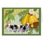 Cavelier King Charles Spaniel Christmas Card Bells