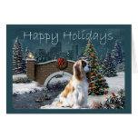 Cavelier King Charles Spaniel Christmas Card Eveni