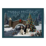 Cavelier King Charles Spaniel Christmas Evening2 G Greeting Card