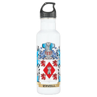 Cavell Coat of Arms - Family Crest 24oz Water Bottle