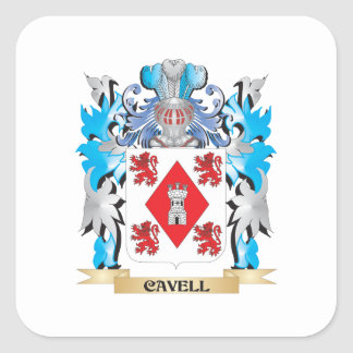 Cavell Coat of Arms - Family Crest Stickers