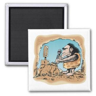 Caveman Carving Computer Magnet