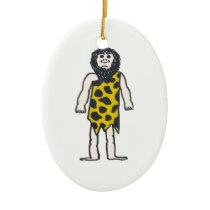 Caveman Ceramic Ornament