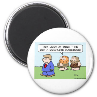 caveman complete makeover 2 inch round magnet