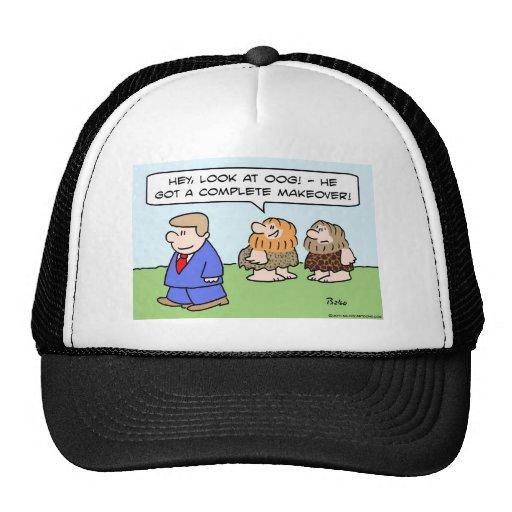 caveman complete makeover trucker hat