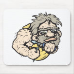 Caveman!  Customizable! Mousepad