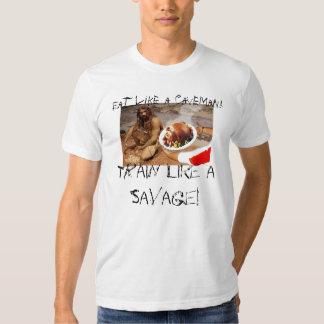 caveman-diet, Eat like a Caveman!, Train like a... Tee Shirt