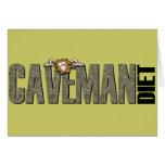 Caveman Diet Greeting Card