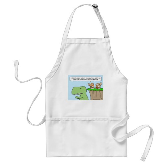 caveman dinosaur food service adult apron