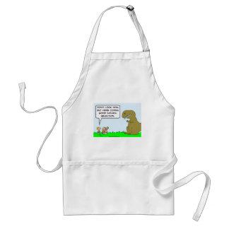 caveman dinosaur natural selection adult apron