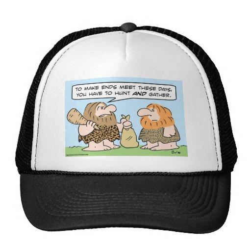 caveman ends meet hunt gather mesh hats