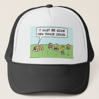 caveman erect crawl new dance craze trucker hat