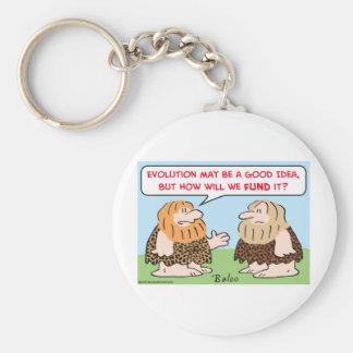 caveman evolution fund keychain